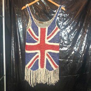 English flag mesh top